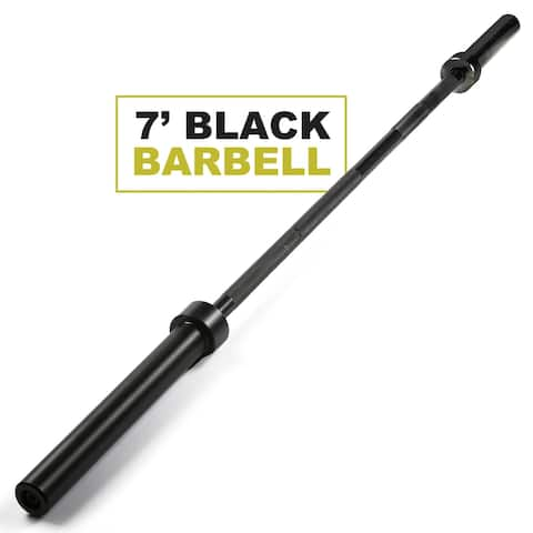 """PRCTZ 7 ft Olympic Barbell with 2"""" Sleeve diameter (Black & Chrome)"""