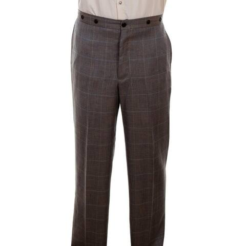 Scully Western Pants Mens Plaid Gent Dress Slacks Wahmaker - Multi - 36 x 36