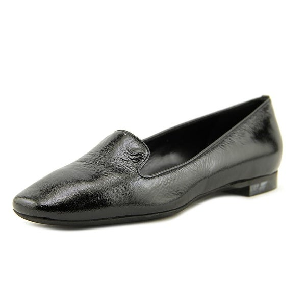 L.A.B M604 Women Round Toe Synthetic Black Loafer
