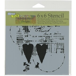 """Crafter's Workshop Template 6""""X6""""-Two Hearts"""