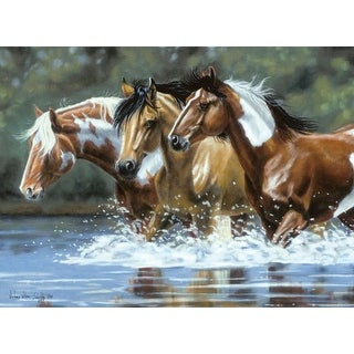 """Paint By Number Kit Artist's Collection 12""""X16""""-Heading Upstream"""
