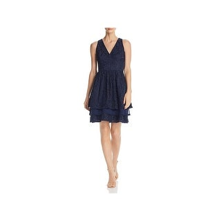 Eliza J Womens Cocktail Dress Lace Mini