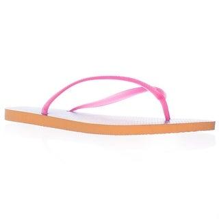 Havaianas Slim Flip Flops - Orange Pink Tie Dye