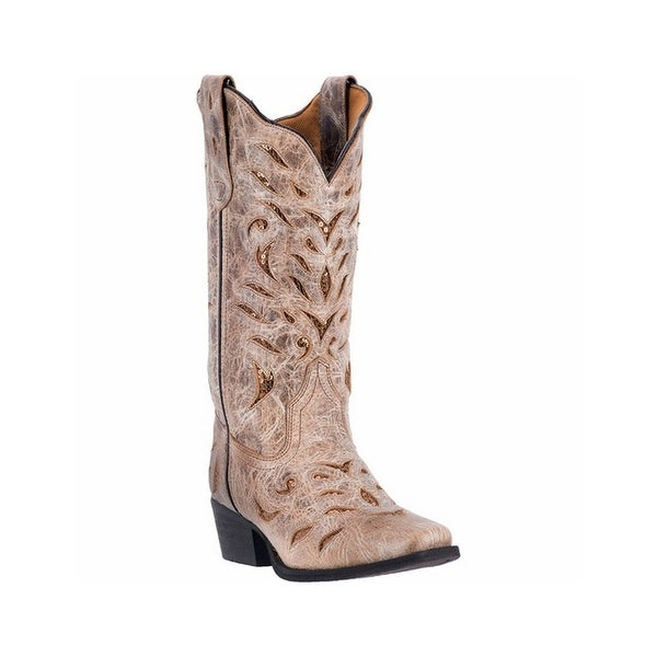 Laredo Western Boots Womens Roxanne Sequin Leather Light Tan