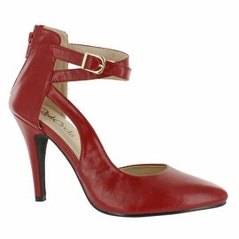 Red Circle Footwear 'Doralee' Pointy Pump With Side Strap