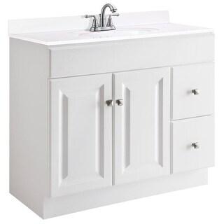 "Design House 545095 36"" Freestanding Single Vanity Cabinet Only - White"
