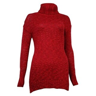 American Living Women's Marled Turtleneck Long Sleeves Sweater - rich red