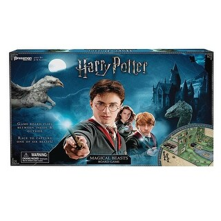 Pressman Harry Potter Magical Beasts Game - Unique Hinged Board - multi