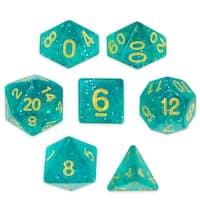 Set of 7 Polyhedral Dice, Celestial Sea