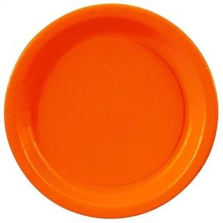 """Orange Paper Plates - 7"""""""