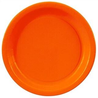 """Orange Paper Plates - 8 5/8"""""""