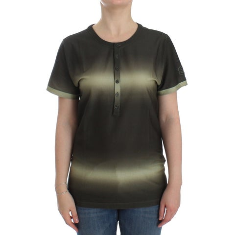 Ermanno Scervino Ermanno Scervino Beachwear Green Cotton T-shirt Blouse Top - it48-xl