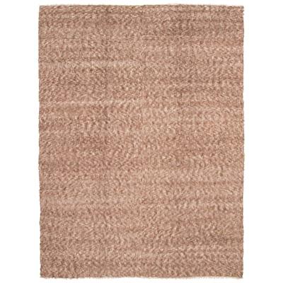 ECARPETGALLERY Flat-Weave Eden Flokati Brown Wool Rug - 9'10 x 13'5