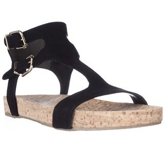 Via Spiga Lamuela Ankle Strap Flat Sandals, Black