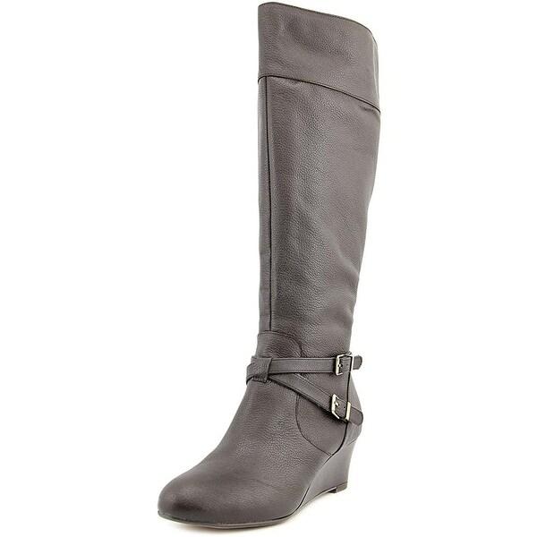 Giani Bernini Womens Kalie WIDE CALF Leather Almond Toe Knee High Fashion Boots