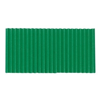 Corobuff Fade Resistant Solid Color Corrugated Paper Roll, 48 in X 25 ft, Emerald Green