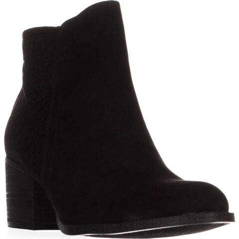 madden girl Fayth Ankle Boots, Black Fabric