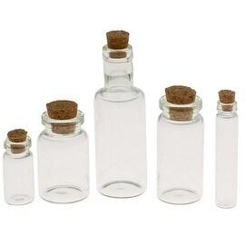 Tim Holtz Idea-ology Corked Glass Vials 9 Piece Assorted Set