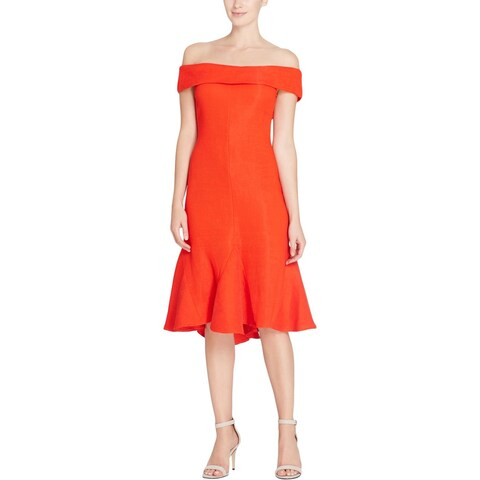 CATHERINE CATHERINE MALANDRINO Womens Cocktail Dress Ribbed Off-The-Shoulders