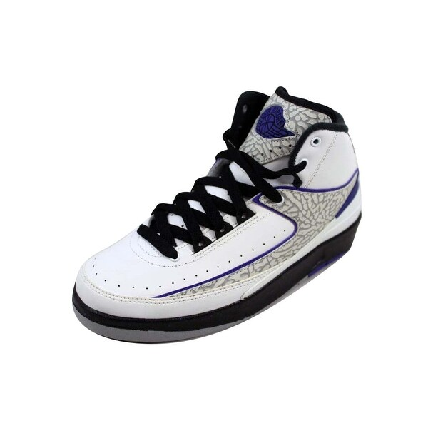 best service 359f4 8f4d7 Shop Nike Grade-School Air Jordan II 2 Retro BG White/Dark Concord ...