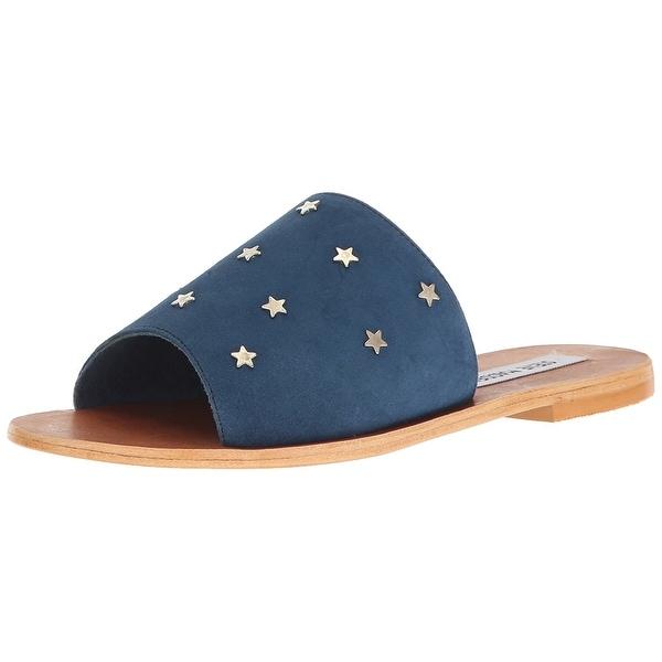 Steve Madden Womens Denise Open Toe Casual Slide Sandals