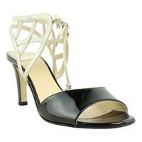 Amalfi Womens Civetta Black Ankle Strap Heels Size 7.5