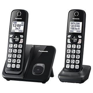 Panasonic Consumer Products - Kx-Tgd512b - Talking Caller Id 150 Call Block 1.6In. White Lcd Handset Locator 2 Han