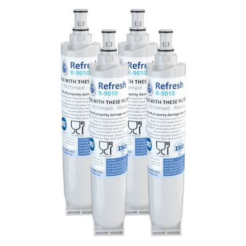 Replacement Water Filter For Whirlpool ED5VHGXMB10 Refrigerator Water Filter - by Refresh (4 Pack) - White