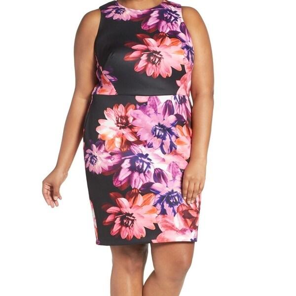 2aa153c4af6d Shop Vince Camuto NEW Black Womens Size 18W Plus Floral Print Sheath ...