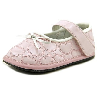 Jack and Lily MYSHOE Infant Round Toe Leather Pink Mary Janes