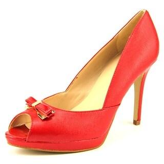 Marc Fisher Marsha Women  Peep-Toe Synthetic Red Heels