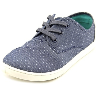 Toms Paseo Youth Round Toe Canvas Blue Sneakers