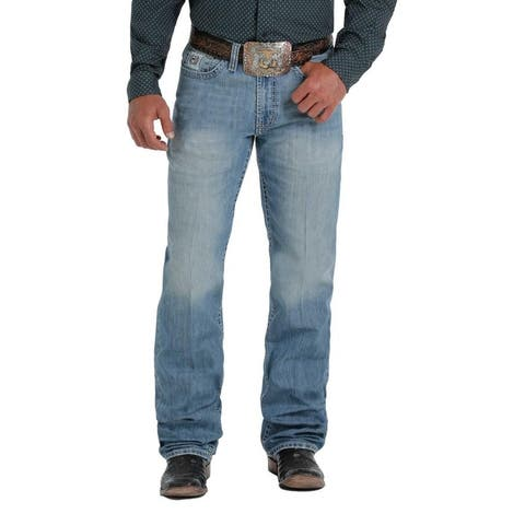 Cinch Western Jeans Mens White Label Relaxed Fit Straight
