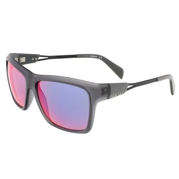 Diesel DL0091/S 20C Matte Grey Rectangular sunglasses - matte grey - 58-14-140