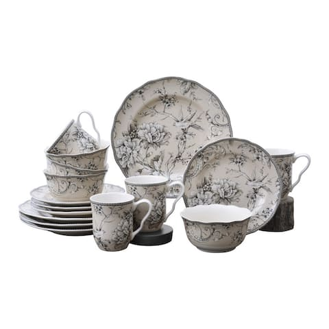 Adelaide Antique White 16 Piece Dinnerware Set