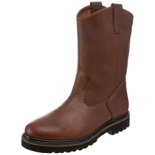 Wolverine Mens Textured Leather Work Boots - 11.5 medium (d)