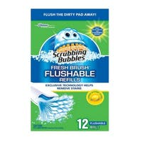 Scrubbing Bubbles 71102 Fresh Brush Flushable Refill, Citrus Action
