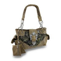 Mossy Oak Camo Concealed Carry Purse w/ Rhinestone Buckle