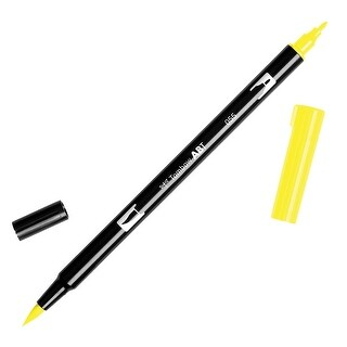 Tombow Dual Brush Pen Art Marker, 055 - Process Yellow, 1-Pack