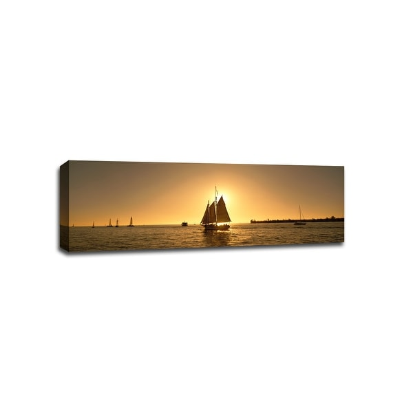 Sailboat Key West  - Boats - 48x16 Gallery Wrapped Canvas Wall Art
