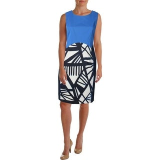 Lafayette 148 Womens Plus Printed Shift Wear to Work Dress - 16W