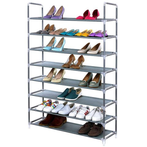 3/5/6/8/9/10 Tiers Simple Extra Wide Non-woven Fabric Shoe Rack