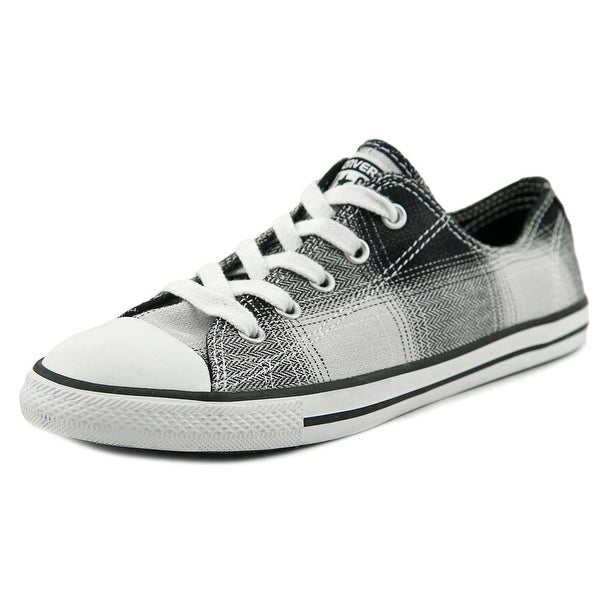 ef05bb3ee31 Converse Chuck Taylor All Star Dainty OX Women Round Toe Canvas Black  Sneakers
