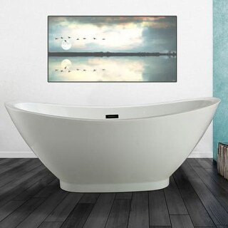 "Miseno MT6933FSO 69"" Freestanding Acrylic Soaking Tub with Center Drain, Drain A"