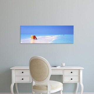 Easy Art Prints Panoramic Images's 'Beach Scenic The Maldives' Premium Canvas Art