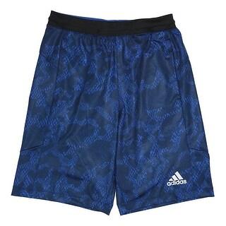 Adidas NEW Royal Blue Mens Size 2XL Reptile Print Athletic Shorts