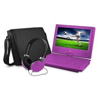 9 in. Dvd Player Bundle Purple