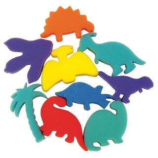 Creativity Street Dinosaur Paint Sponge, 3 in, Pack of 9