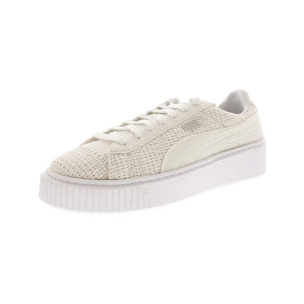 d207025206dd Shop PUMA Women s Basket Platform Woven Sneakers - Free Shipping Today -  Overstock - 27032612