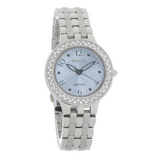 Link to Citizen Women's FE2080-64L 'Silhouette' Stainless Steel Watch - Blue Similar Items in Women's Watches